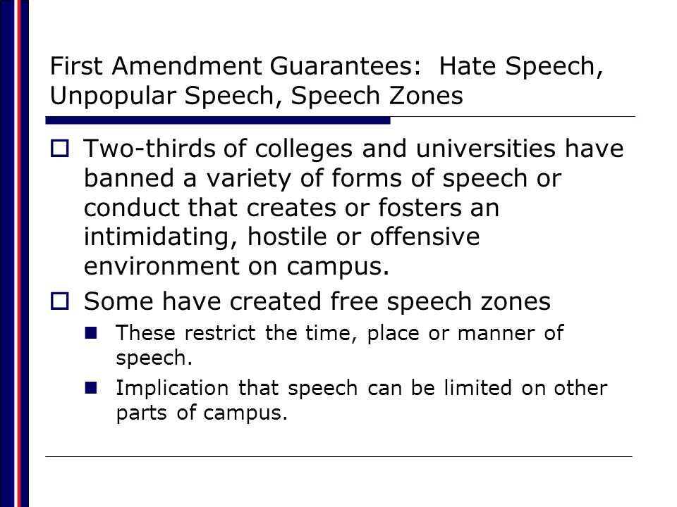 Some have created free speech zones