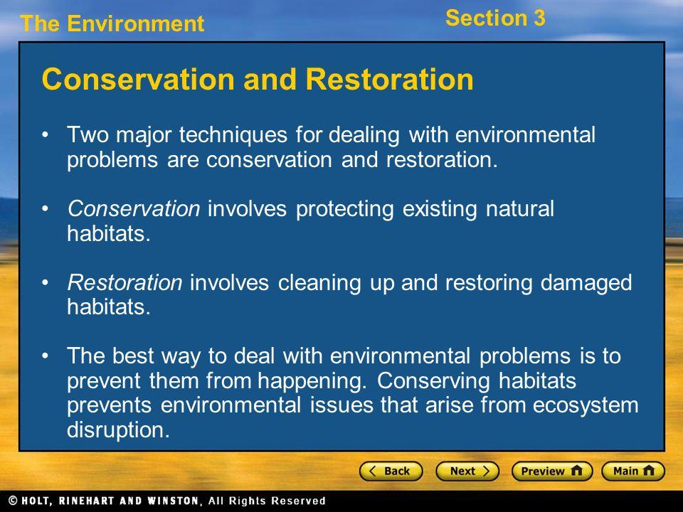 Conservation and Restoration