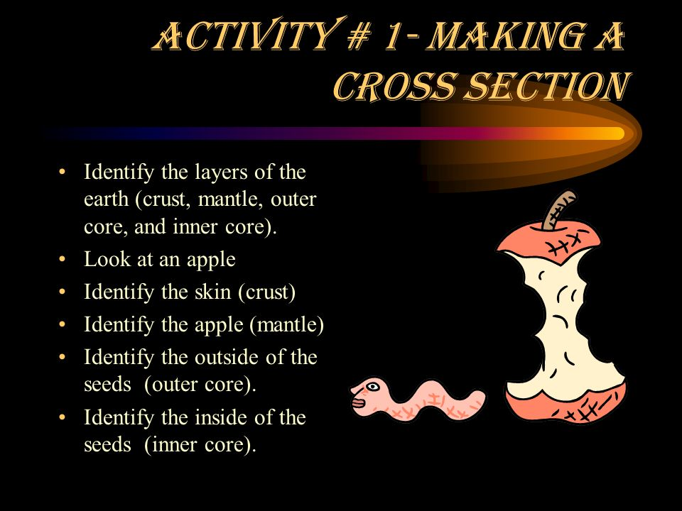 Activity # 1- Making a Cross Section
