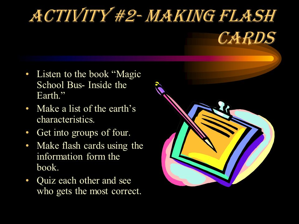 Activity #2- Making Flash Cards