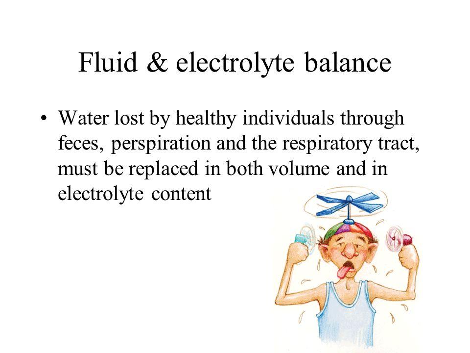 Fluid & electrolyte balance