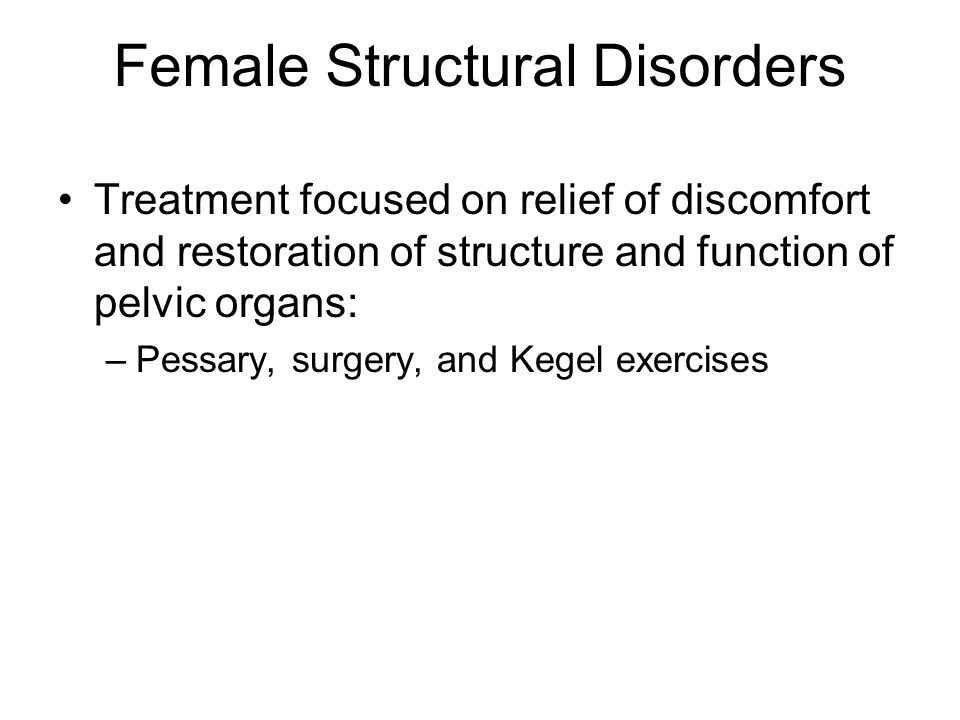 Female Structural Disorders
