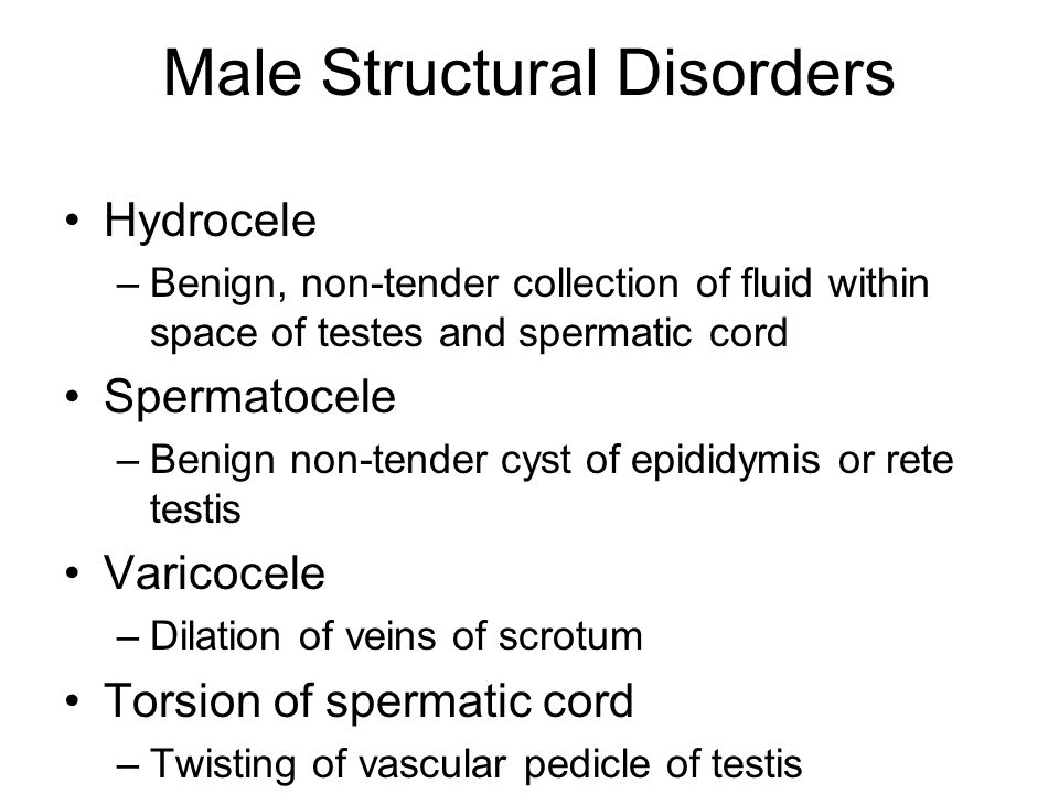 Male Structural Disorders
