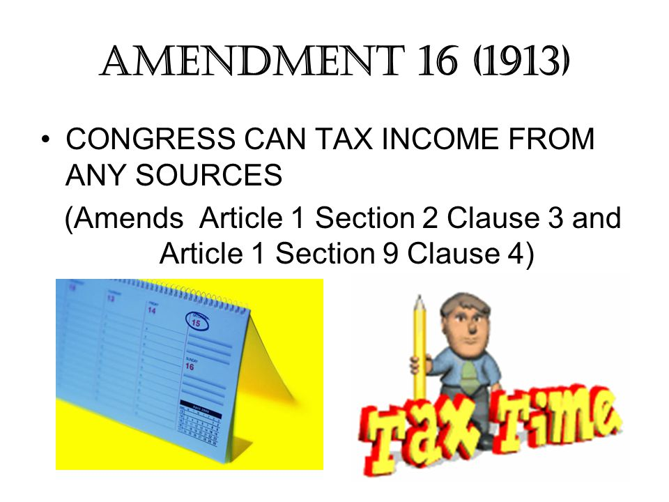 (Amends Article 1 Section 2 Clause 3 and Article 1 Section 9 Clause 4)