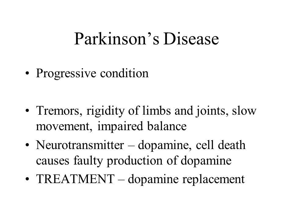 Parkinson's Disease Progressive condition