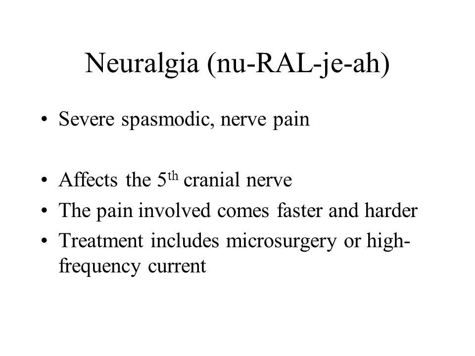 Neuralgia (nu-RAL-je-ah)