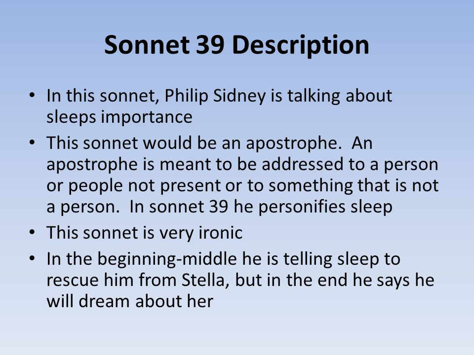 brief analysis sir philip sidney s sonnet 7 Poem from 'astrophil and stella', renaissance sonnet sequence by sir philip sidney.