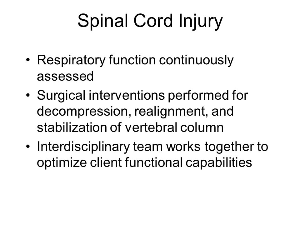 Spinal Cord Injury Respiratory function continuously assessed