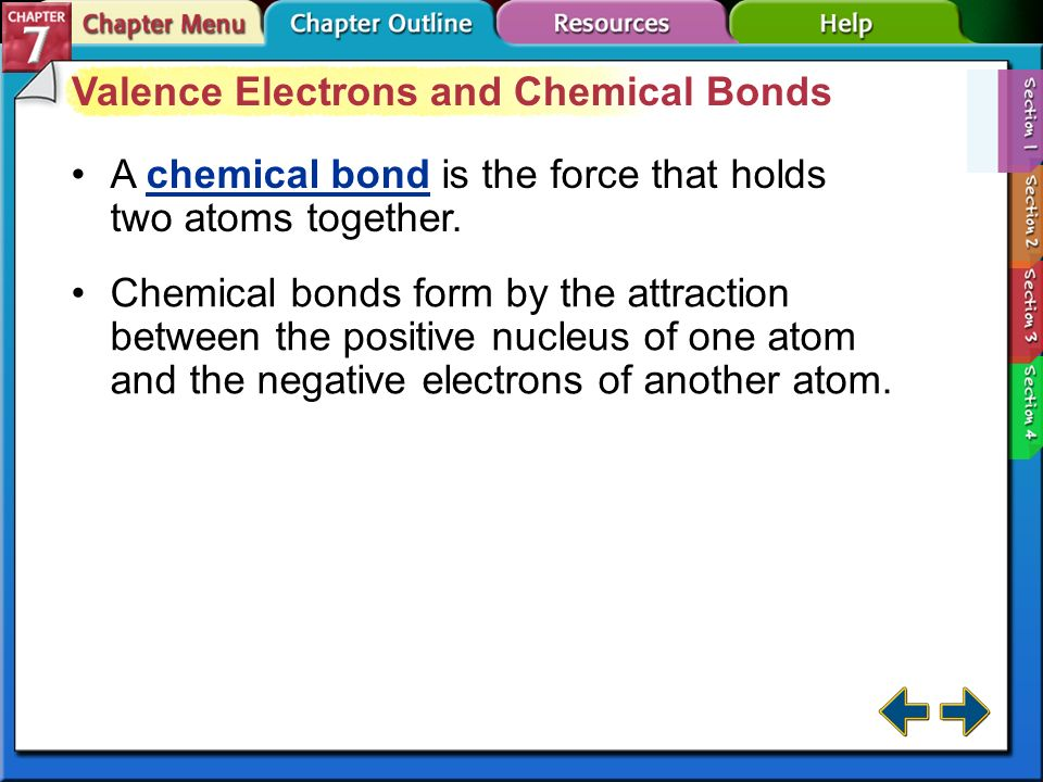 Valence Electrons and Chemical Bonds