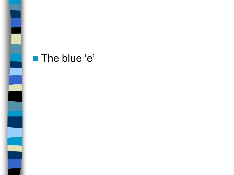 The blue 'e'