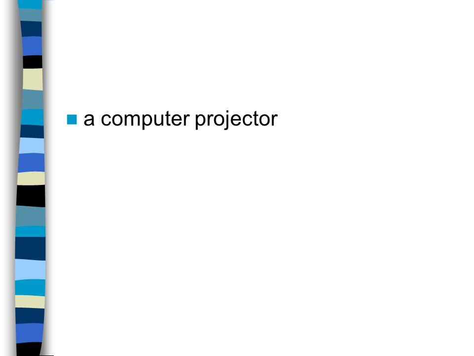 a computer projector