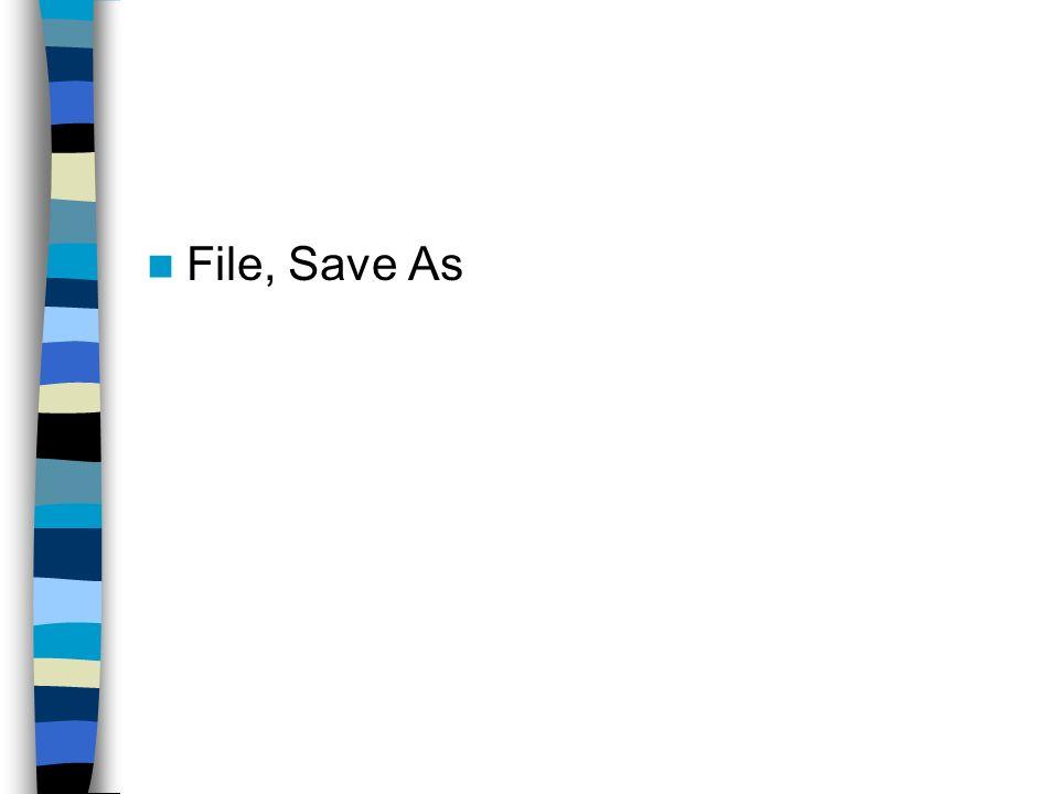 File, Save As