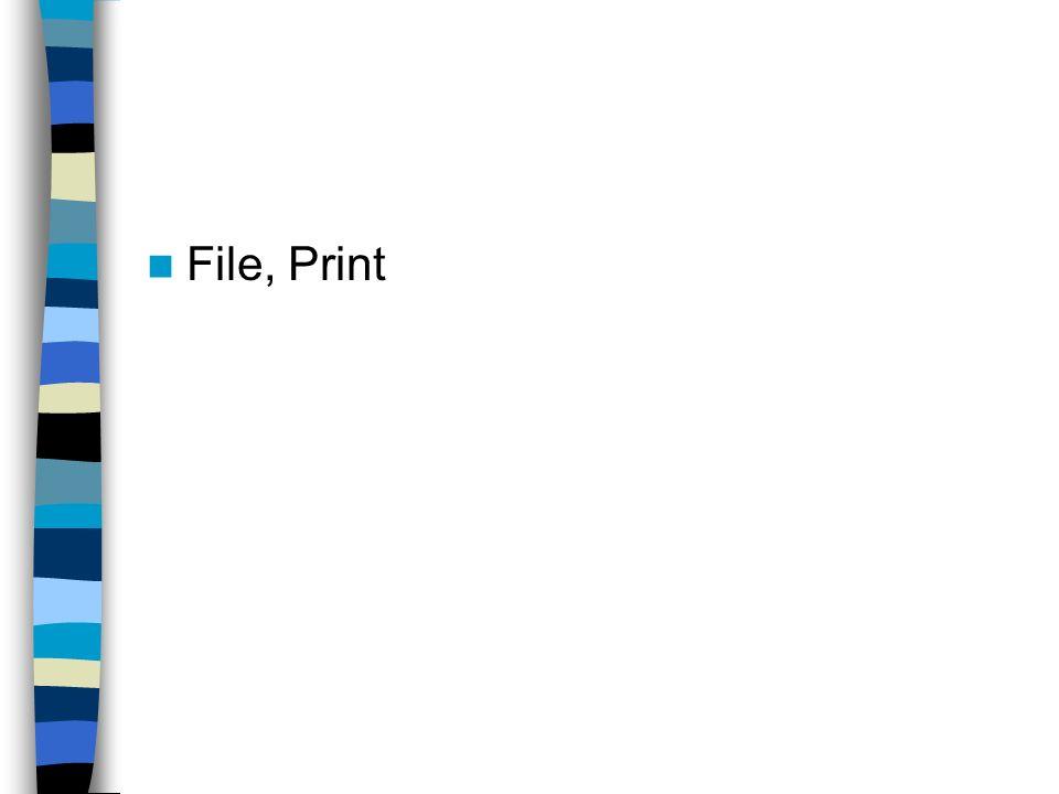 File, Print