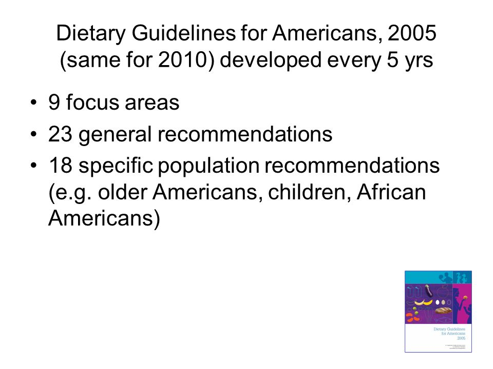 23 general recommendations