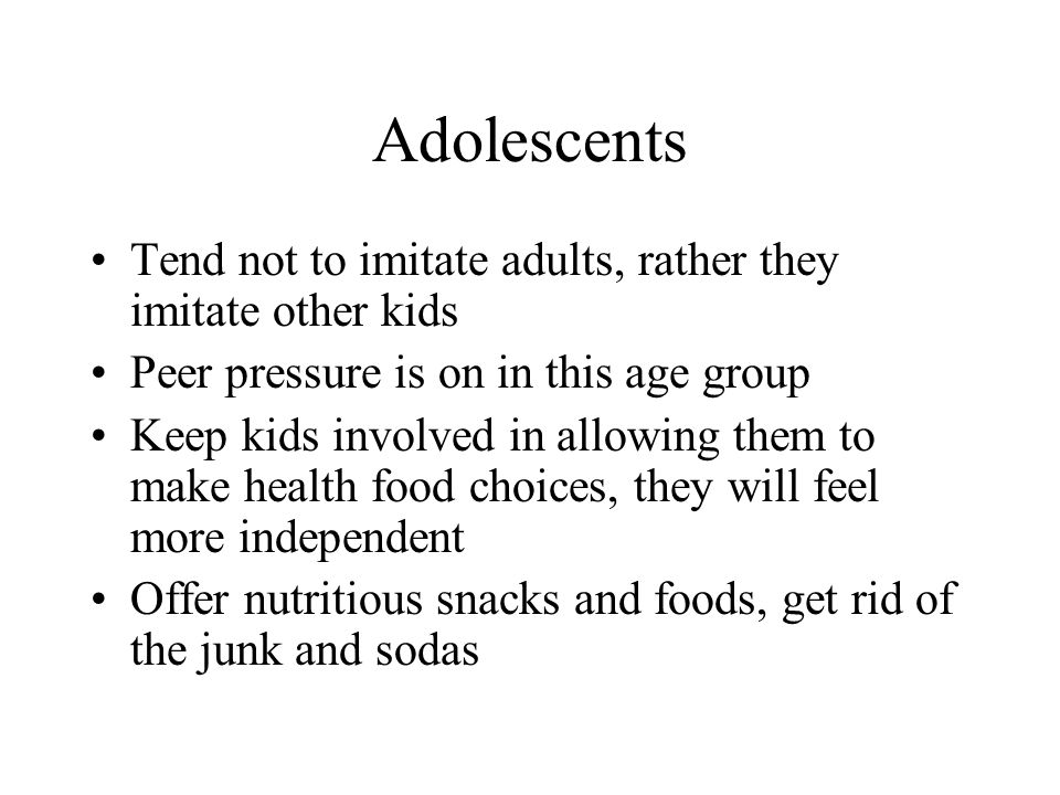 Adolescents Tend not to imitate adults, rather they imitate other kids