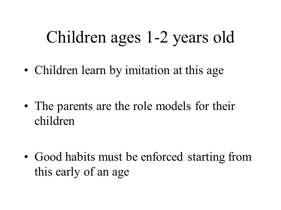 Children ages 1-2 years old