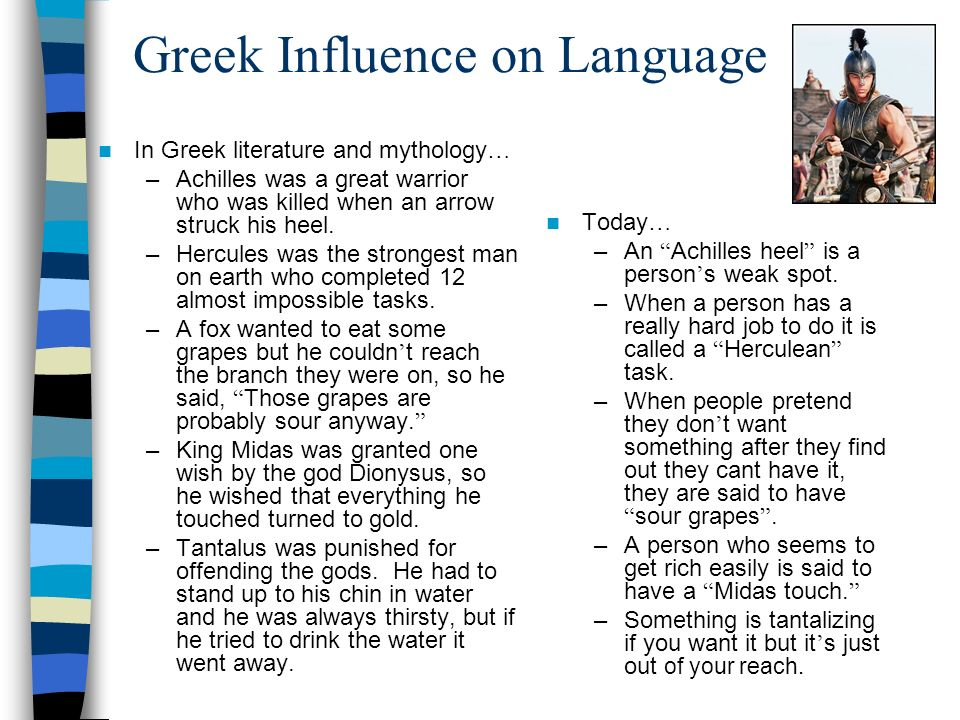 Greek Influence on Language