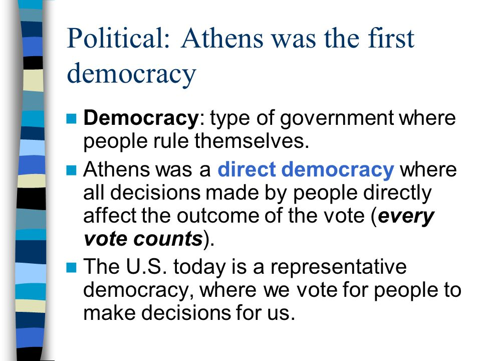 Political: Athens was the first democracy