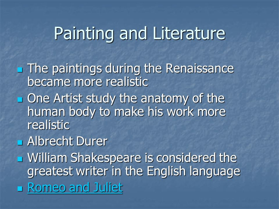 Painting and Literature
