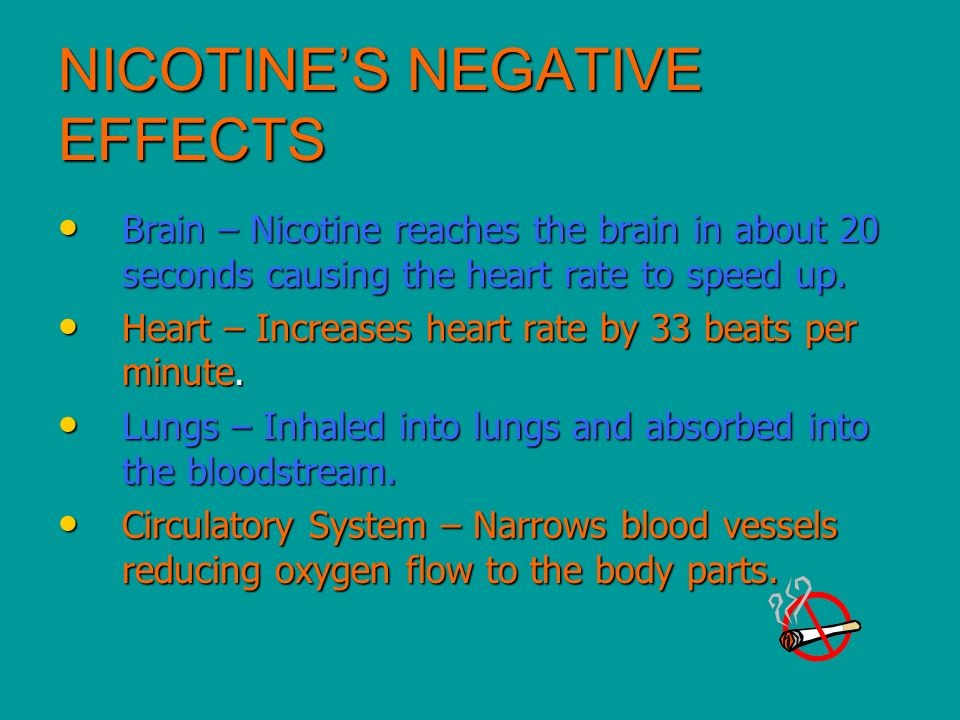 NICOTINE'S NEGATIVE EFFECTS