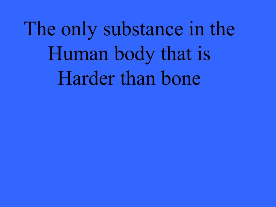 The only substance in the