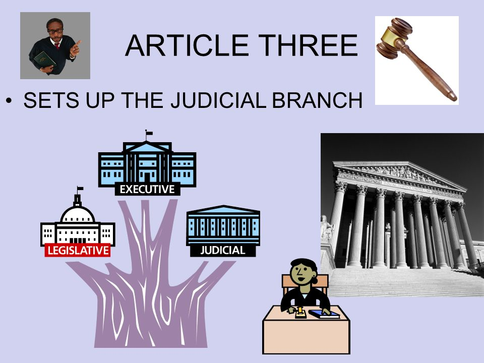 ARTICLE THREE SETS UP THE JUDICIAL BRANCH
