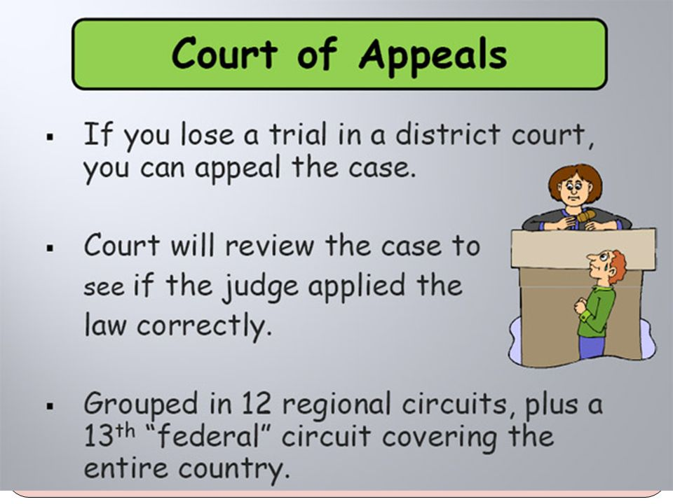 Appeals are handled through appeal courts