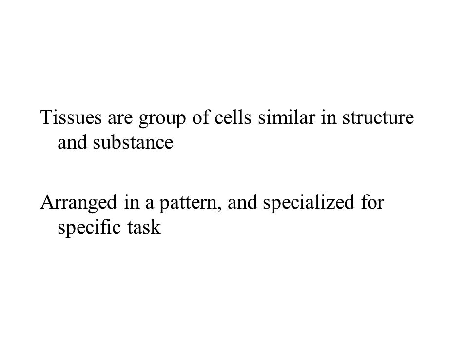 Tissues are group of cells similar in structure and substance