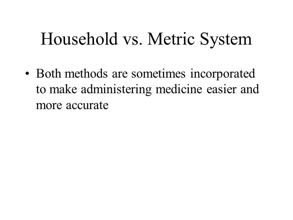 Household vs. Metric System