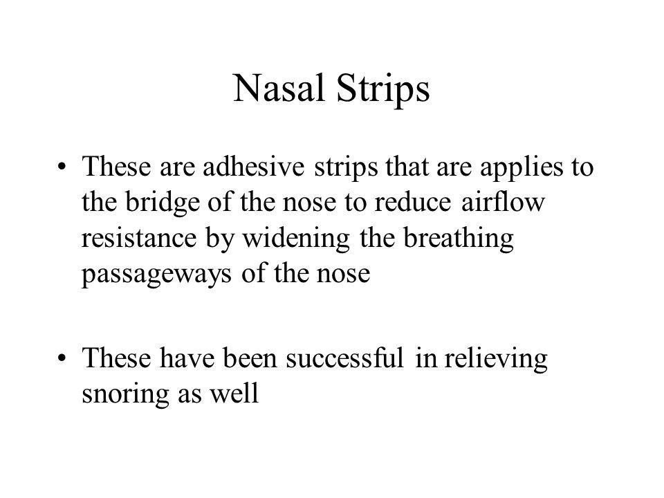 Nasal Strips