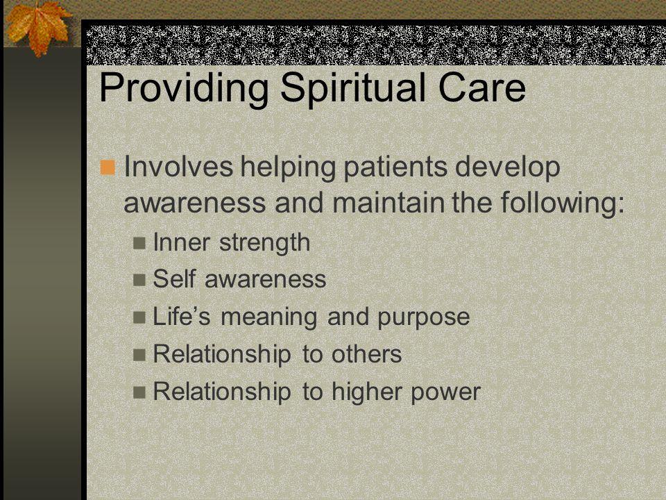 Providing Spiritual Care