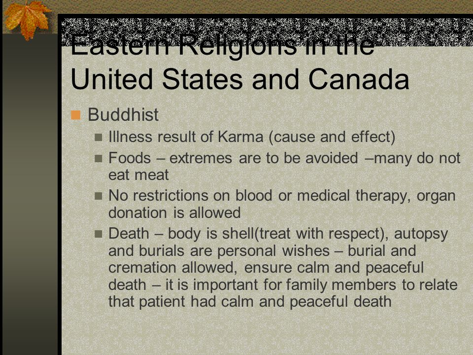 Eastern Religions in the United States and Canada