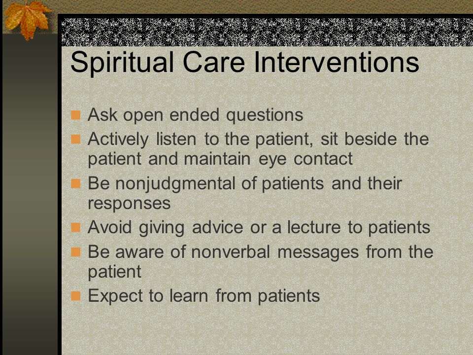 Spiritual Care Interventions