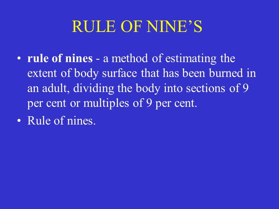 RULE OF NINE'S