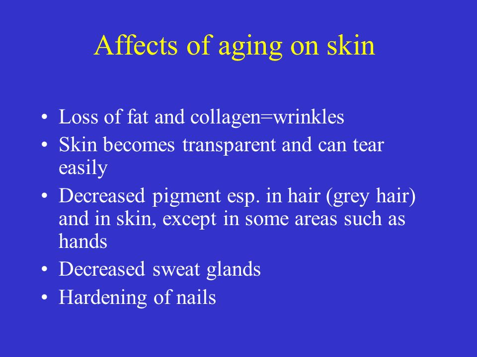 Affects of aging on skin