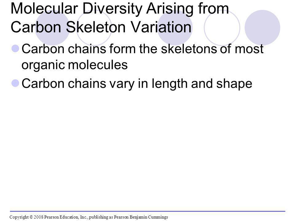 Molecular Diversity Arising from Carbon Skeleton Variation