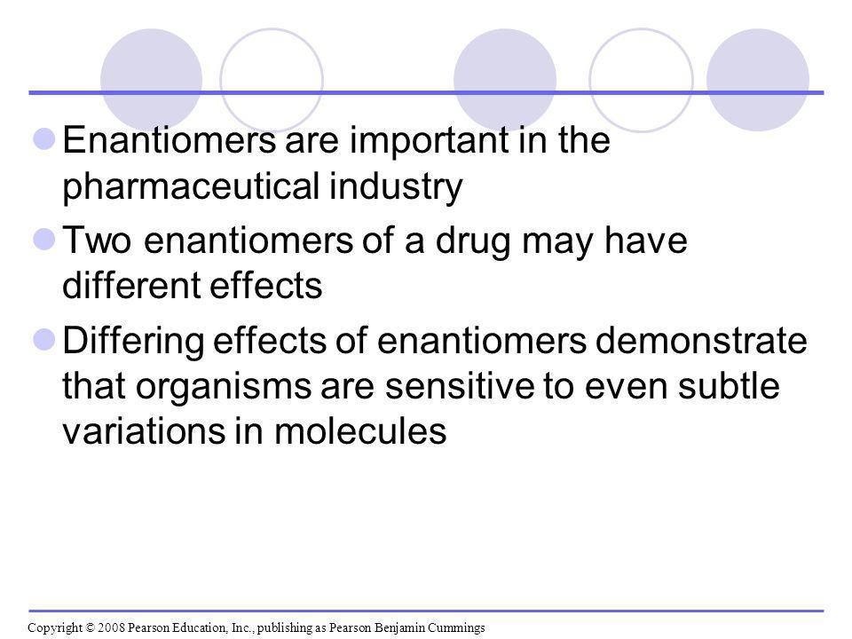 Enantiomers are important in the pharmaceutical industry