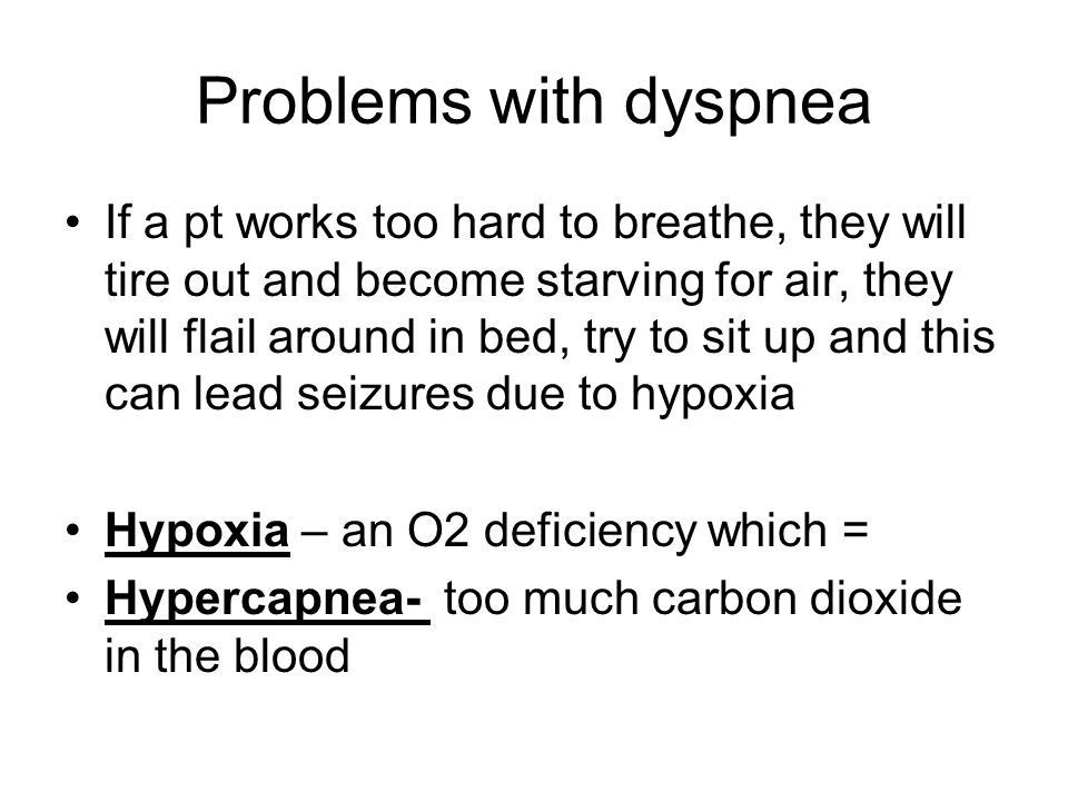 Problems with dyspnea