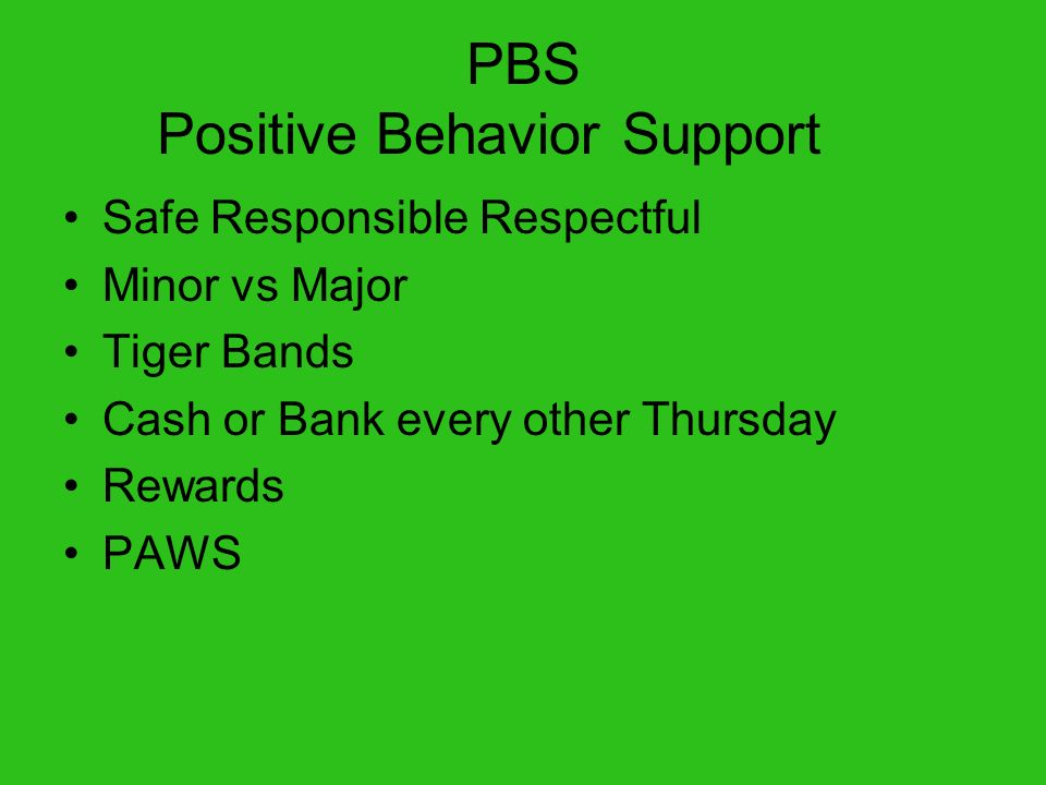 PBS Positive Behavior Support