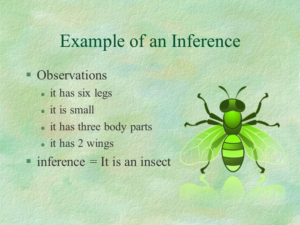 Example of an Inference