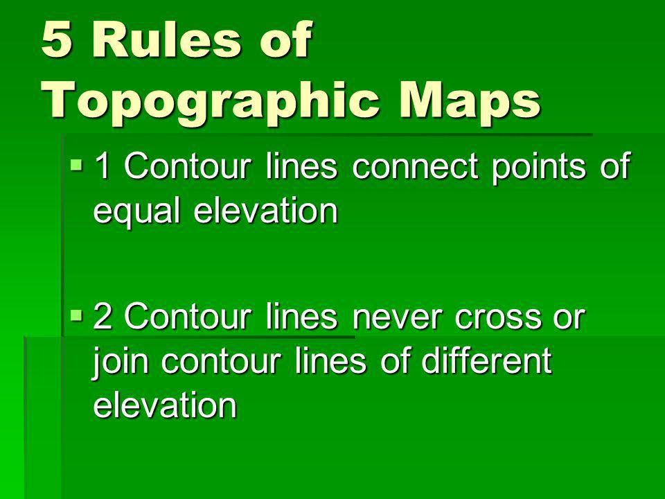 5 Rules of Topographic Maps