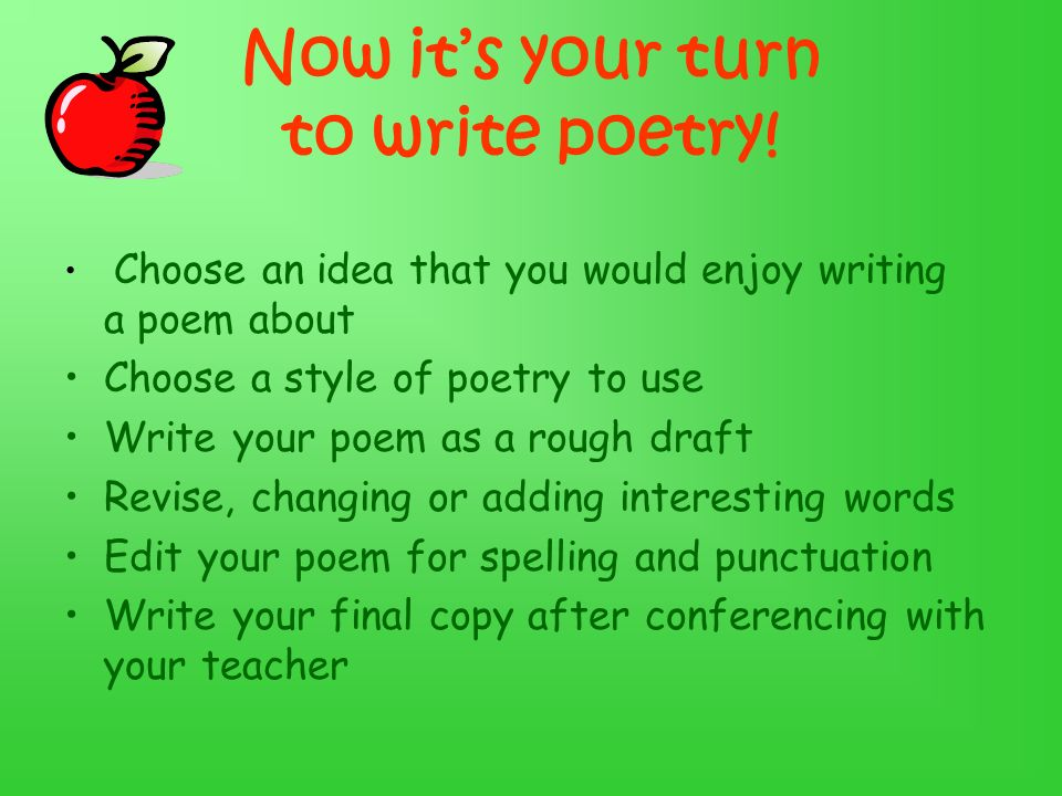 Now it's your turn to write poetry!
