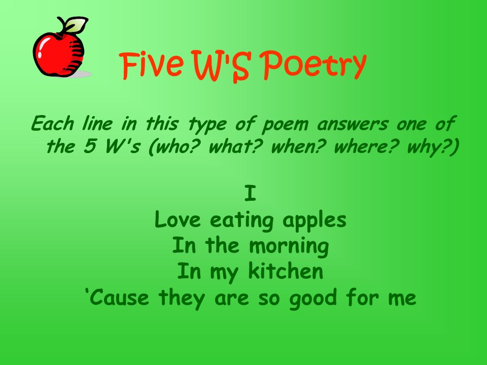 Five W S Poetry