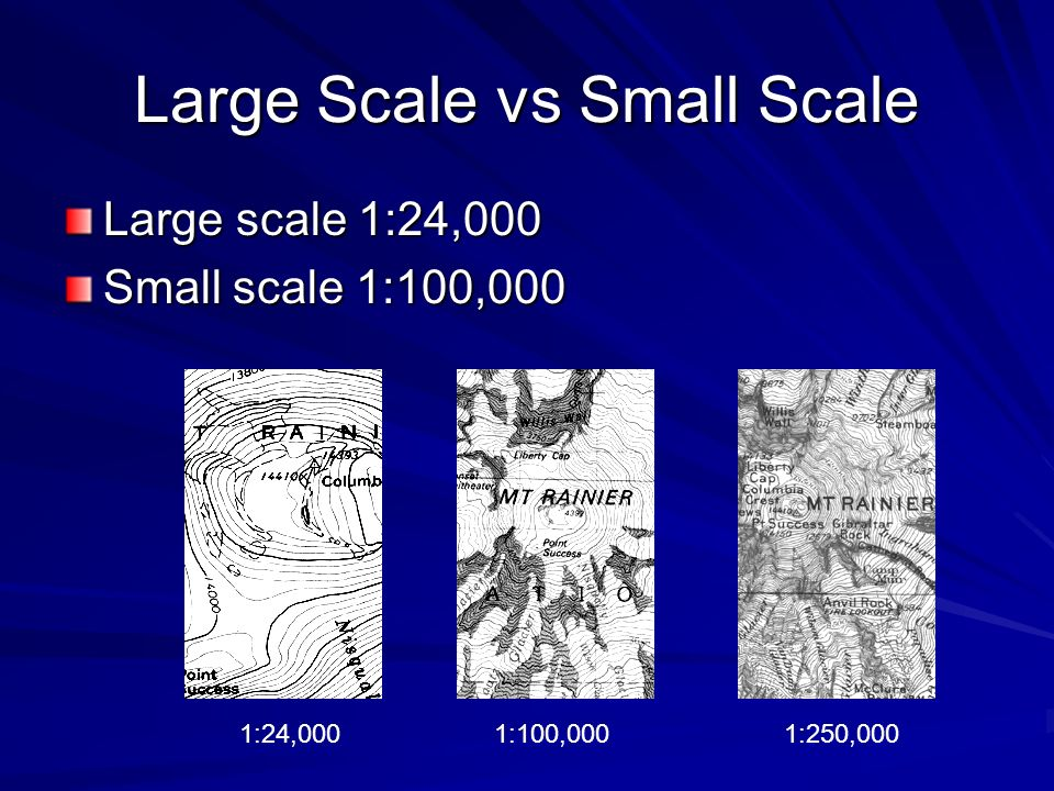 Large Scale vs Small Scale