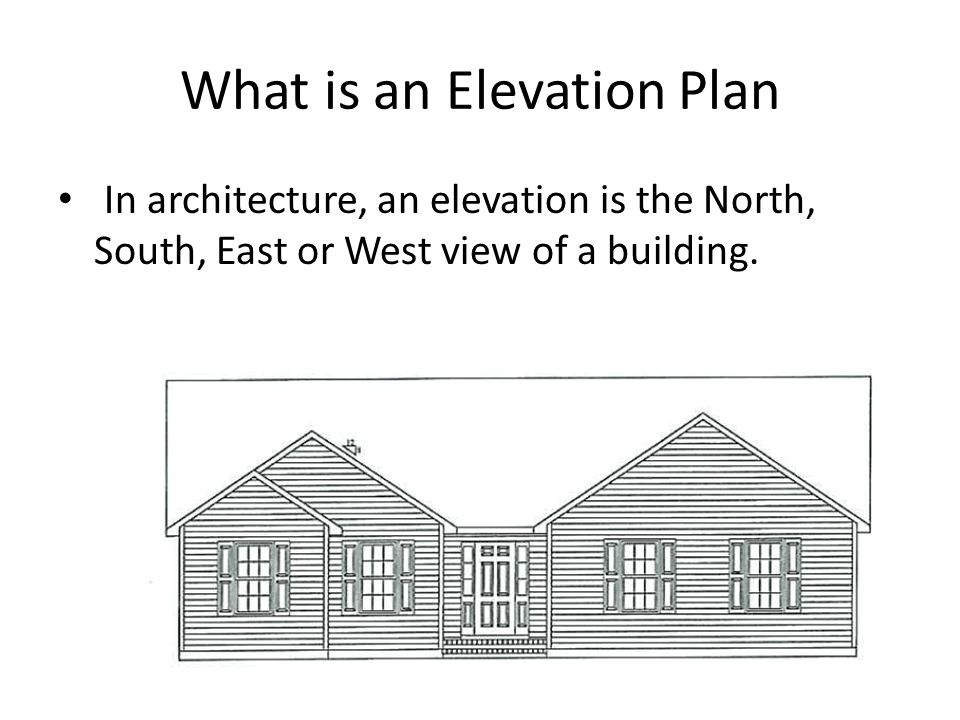 Elevation Plan Definition : Building plans ppt video online download