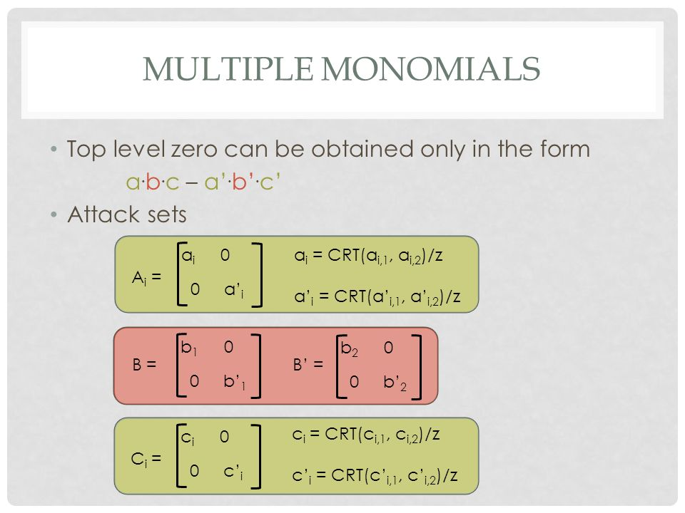 Zeroizing Attacks on Cryptographic Multilinear Maps - ppt video ...