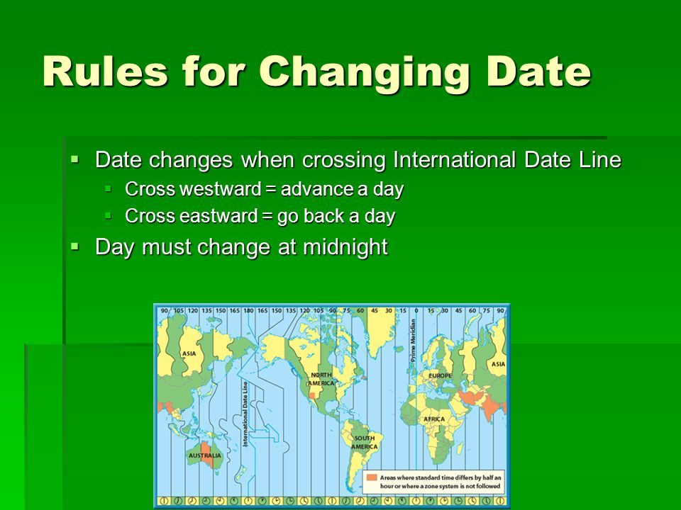 Rules for Changing Date