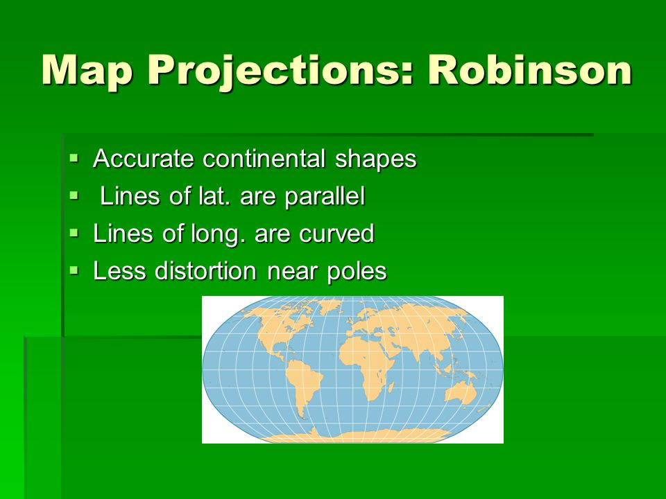 Map Projections: Robinson