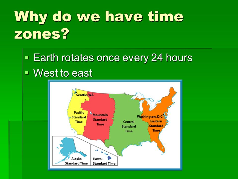 Why do we have time zones