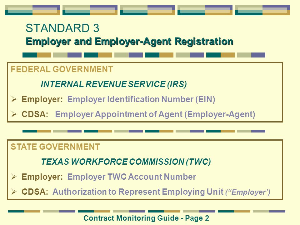 STANDARD 3 Employer and Employer-Agent Registration